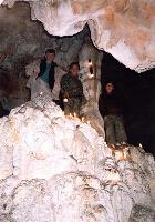 Если это не груда черепов под кальцитовыми натеками, то я не знаю... Ничего похожего в других пещерах я не видел.