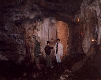 """""""Мамонт"""" - натеки кальцита (с включением окислов железа - они дают ржавый цвет) на стенах пещеры"""